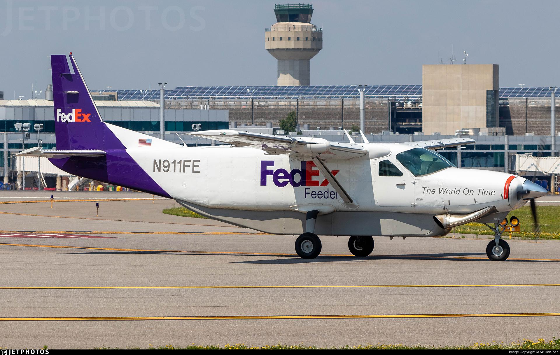 N911FE - Cessna 208B Super Cargomaster - FedEx Feeder (Wiggins Airways)