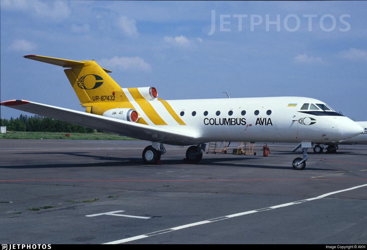 UR-87432 - Yakovlev Yak-40 - Columbus-Avia
