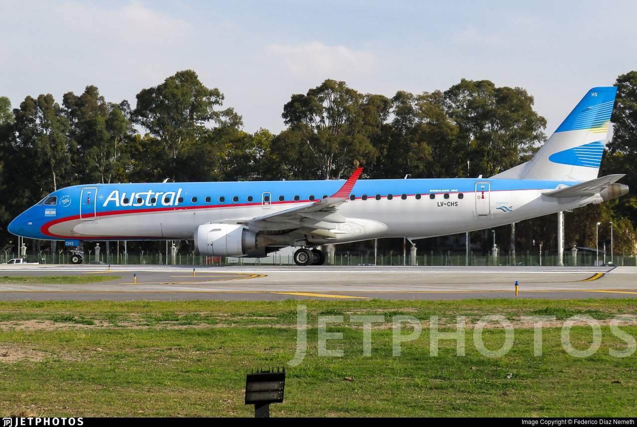 LV-CHS - Embraer 190-100IGW - Austral Líneas Aéreas