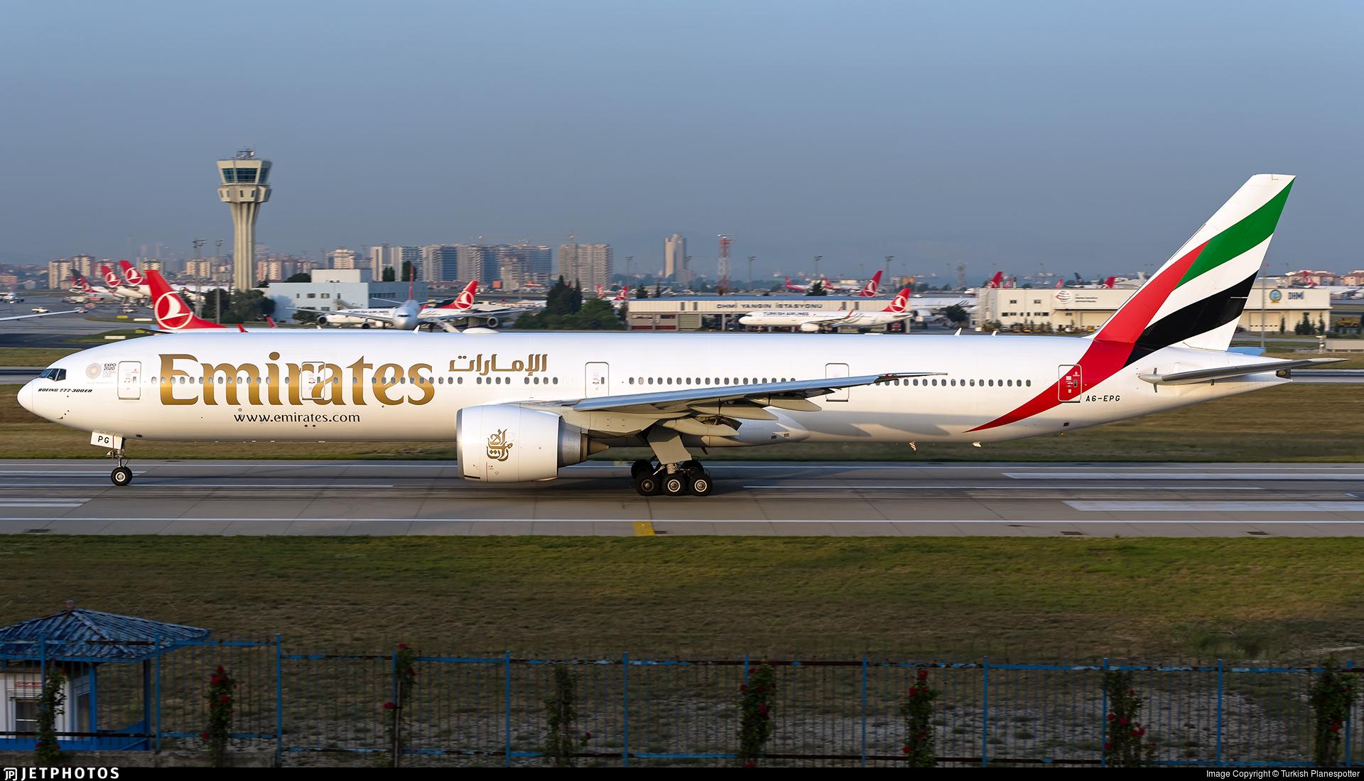 A6-EPG | Boeing 777-31HER | Emirates | Turkish Planespotter