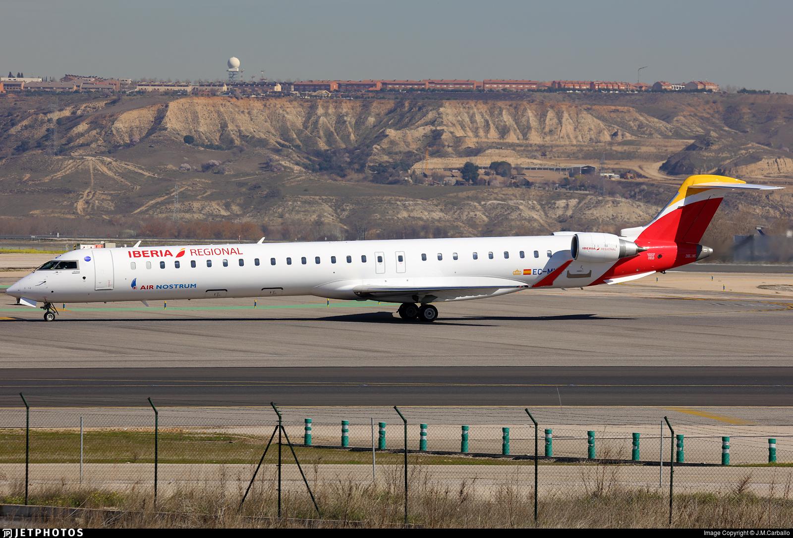 EC-MNQ - Bombardier CRJ-1000 - Iberia Regional (Air Nostrum)