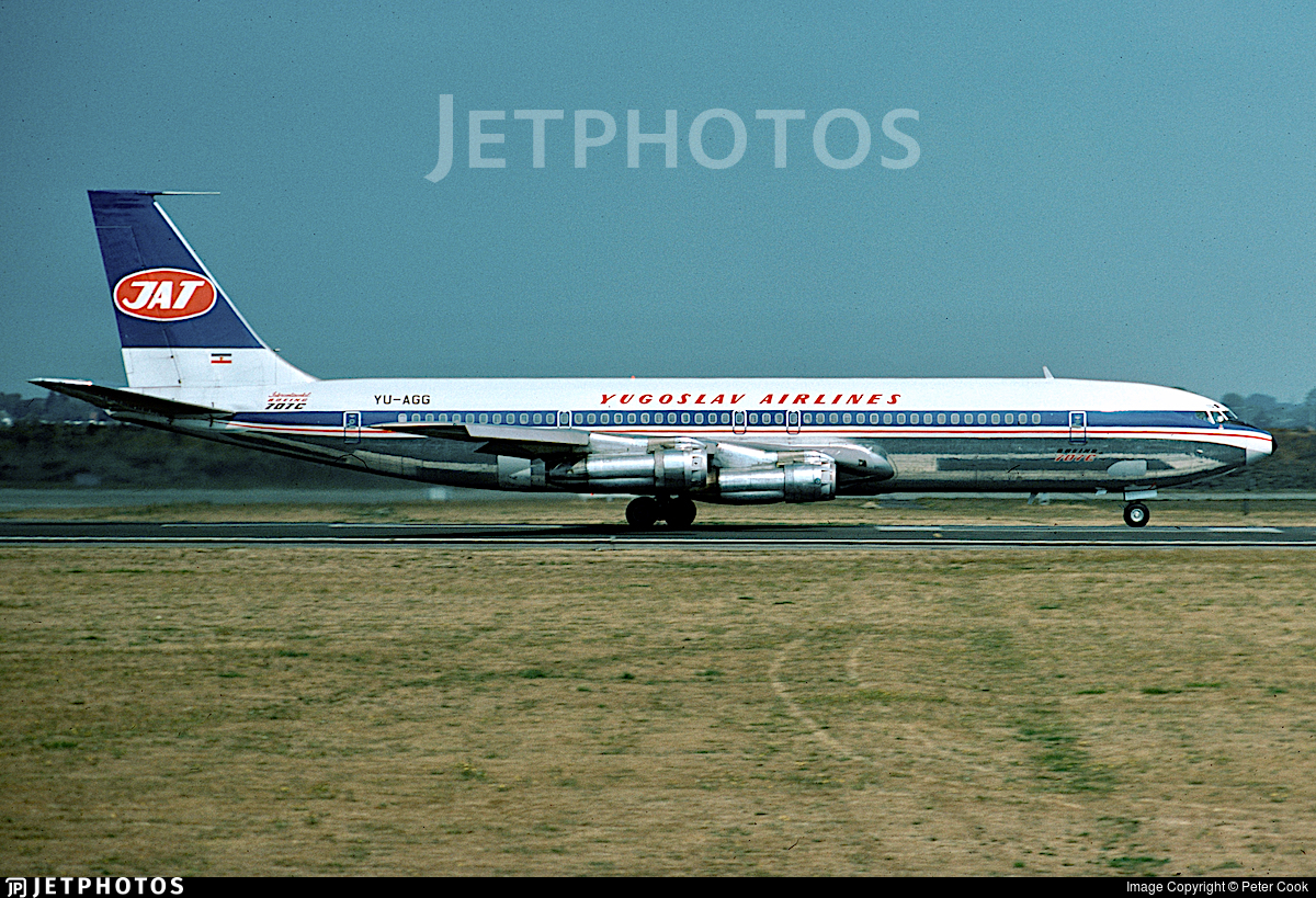 YU-AGG - Boeing 707-340C - JAT Yugoslav Airlines