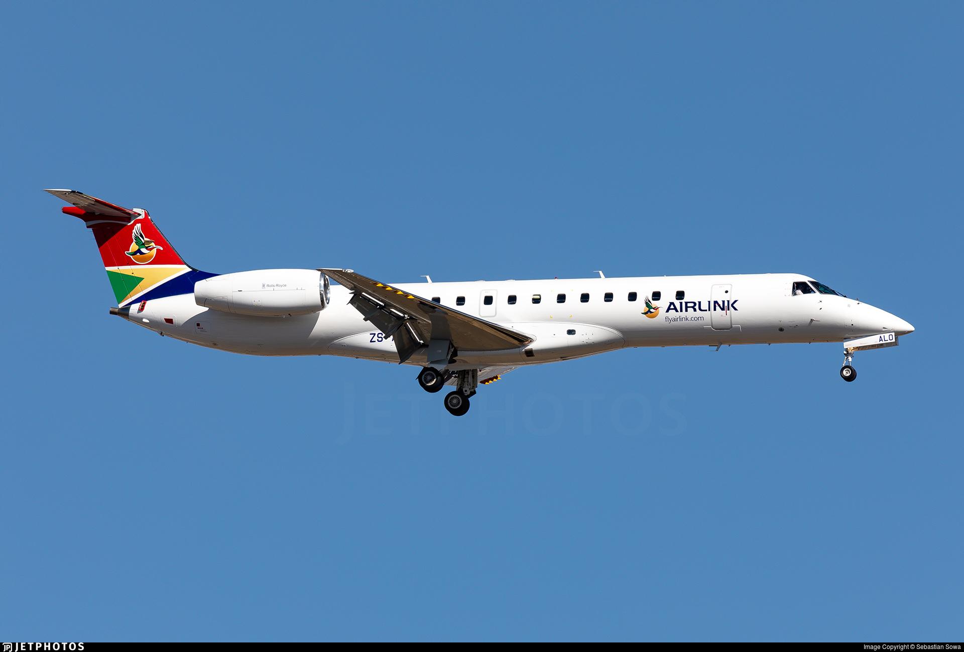 ZS-ALO - Embraer ERJ-140LR - Airlink