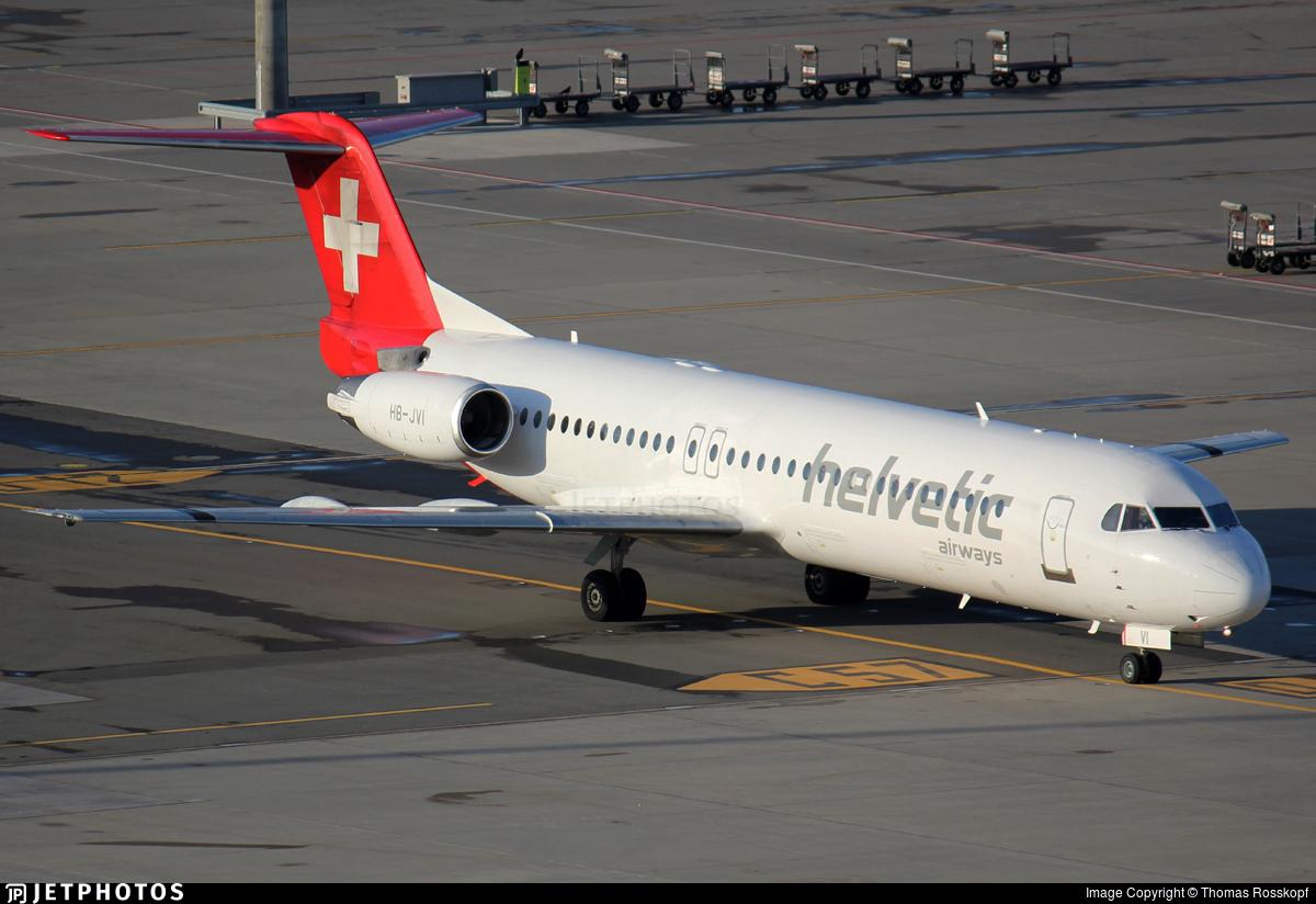 HB-JVI - Fokker 100 - Helvetic Airways