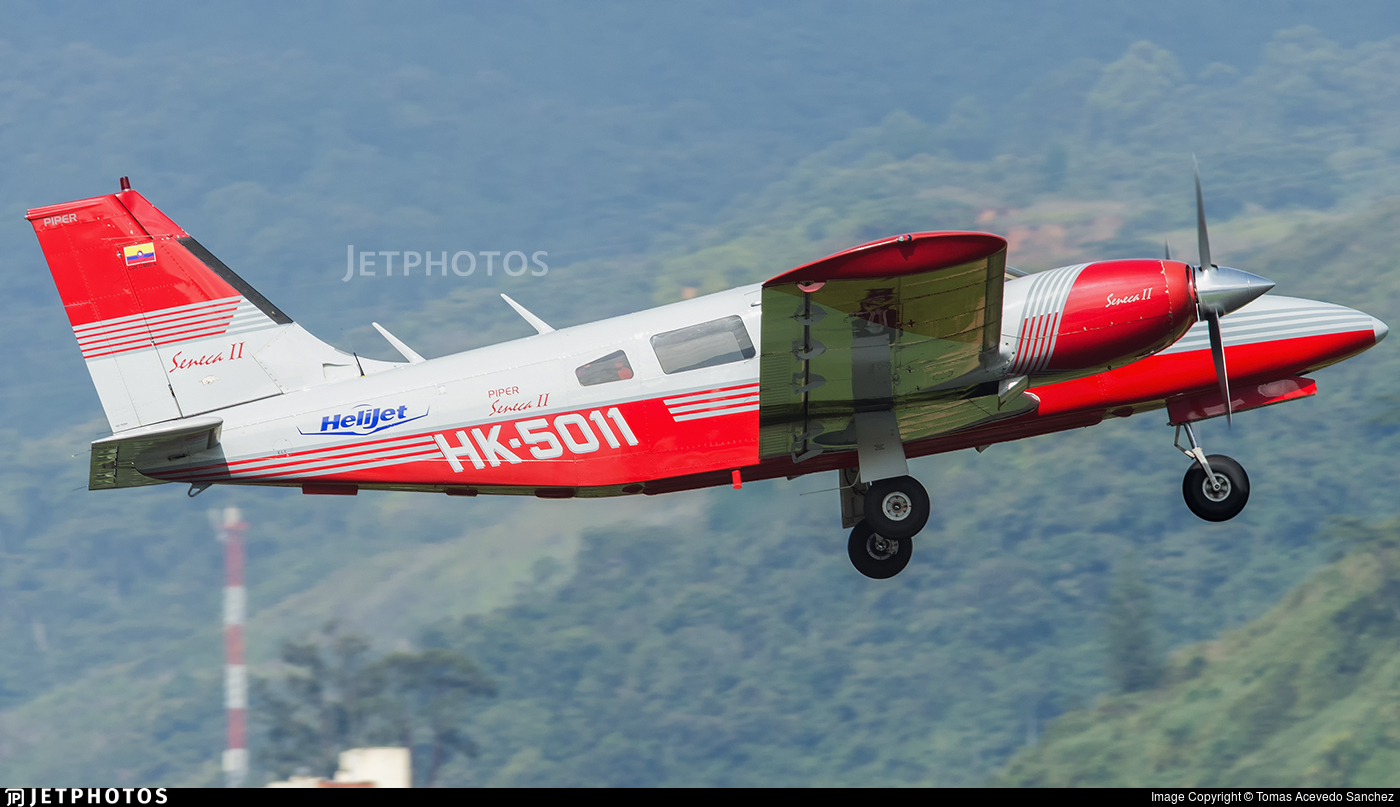 HK-5011 - Piper PA-34-200T Seneca II - Helijet Colombia