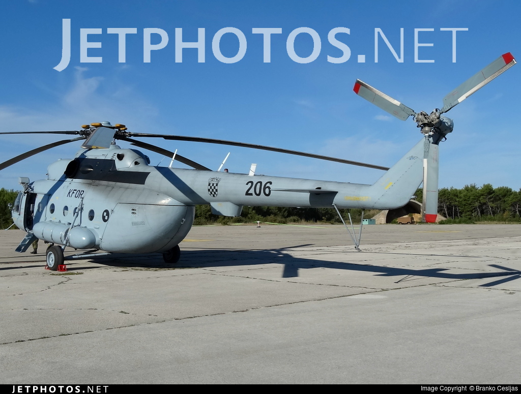 206 - Mil Mi-8MTV-1 Hip - Croatia - Air Force