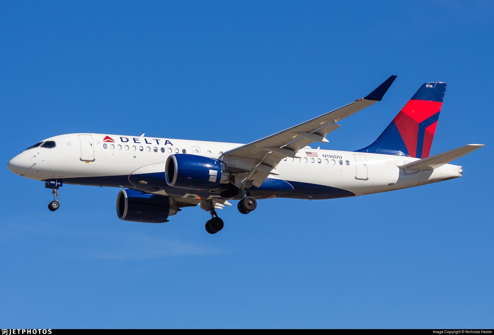 N116DU - Airbus A220-171 - Delta Air Lines