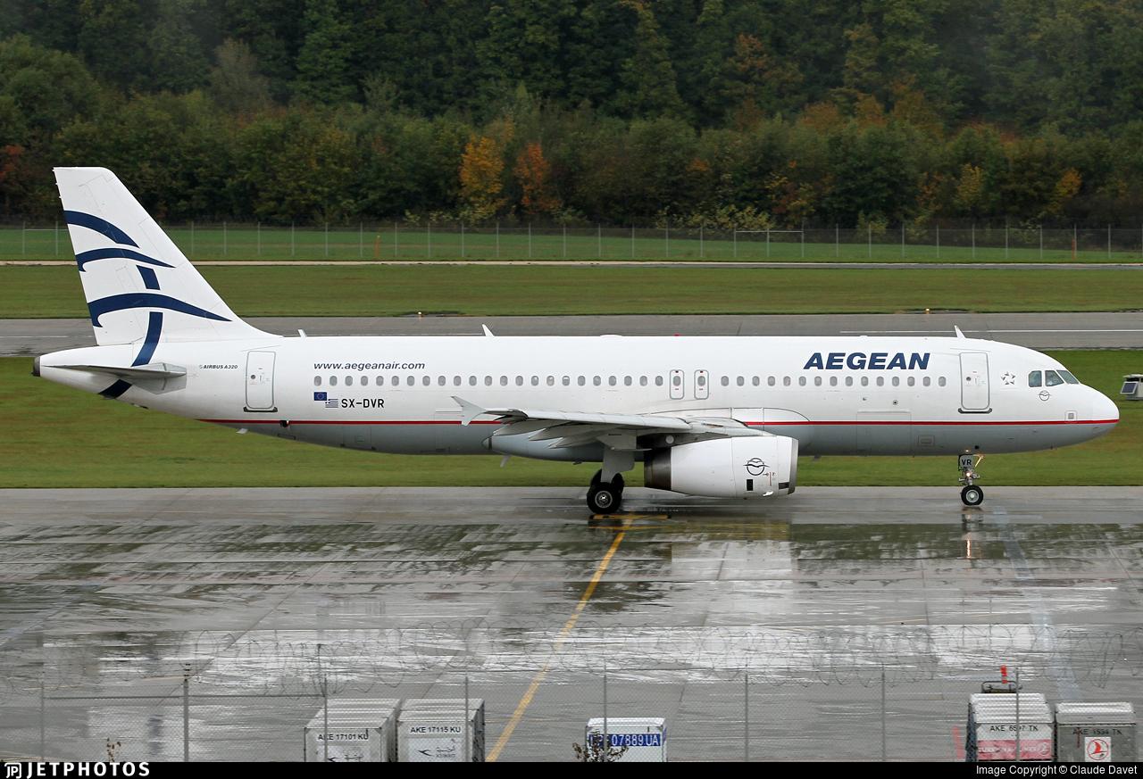 SX-DVR - Airbus A320-232 - Aegean Airlines