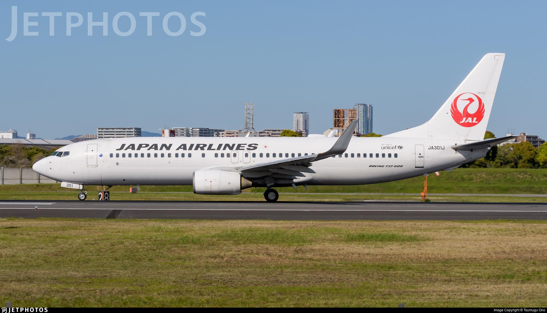 JA301J - Boeing 737-846 - Japan Airlines (JAL)
