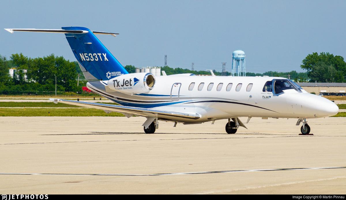 N533TX - Cessna 525 Citationjet CJ3 - Private