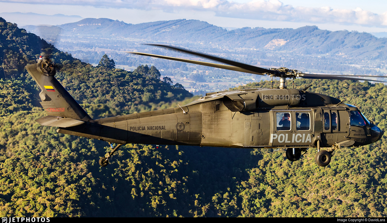 PNC-0611 - Sikorsky UH-60A Blackhawk - Colombia - Police