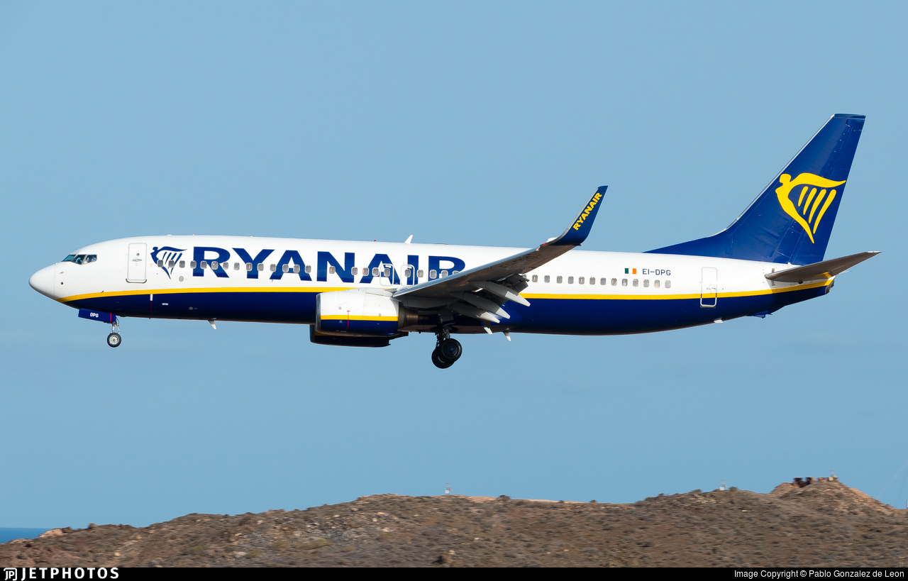 EI-DPG - Boeing 737-8AS - Ryanair