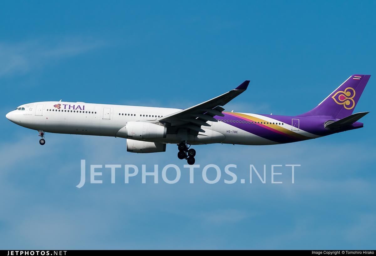 HS-TBE - Airbus A330-343 - Thai Airways International