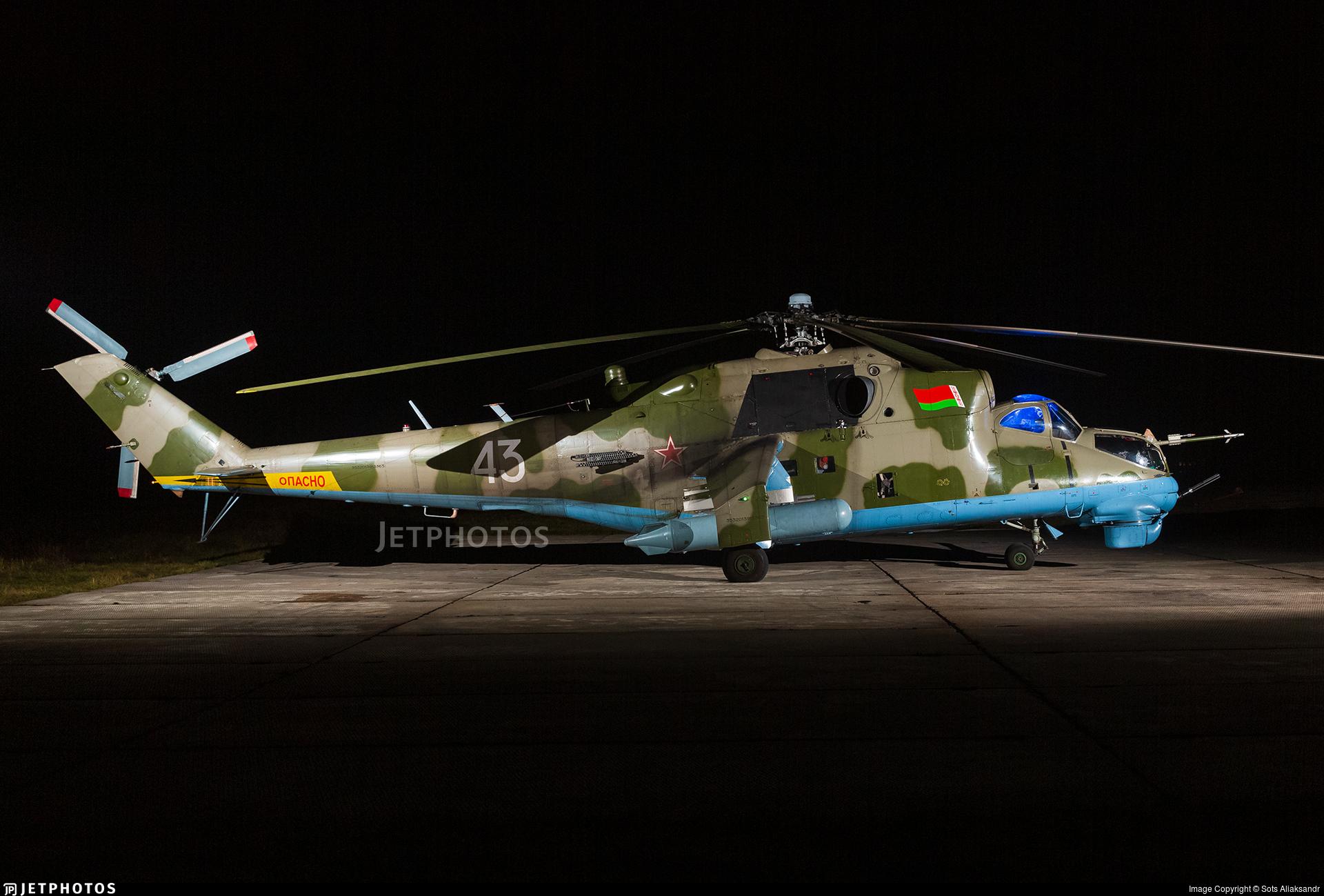43 - Mil Mi-24K Hind D - Belarus - Air Force