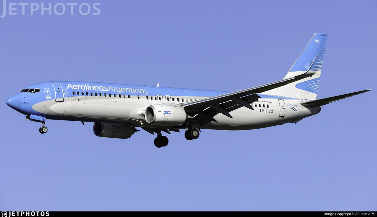LV-FVO - Boeing 737-8SH - Aerolíneas Argentinas