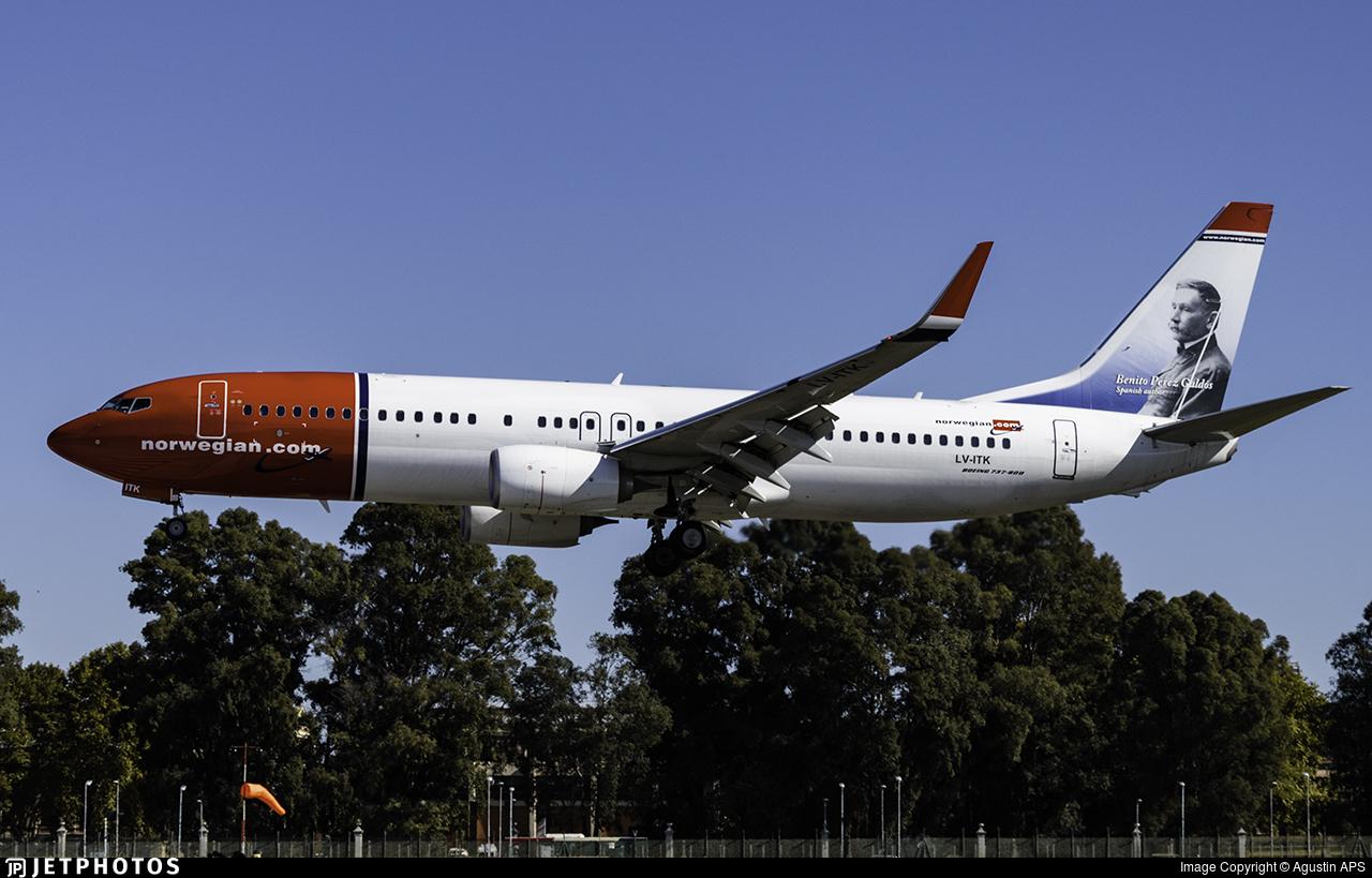 LV-ITK - Boeing 737-8JP - Norwegian