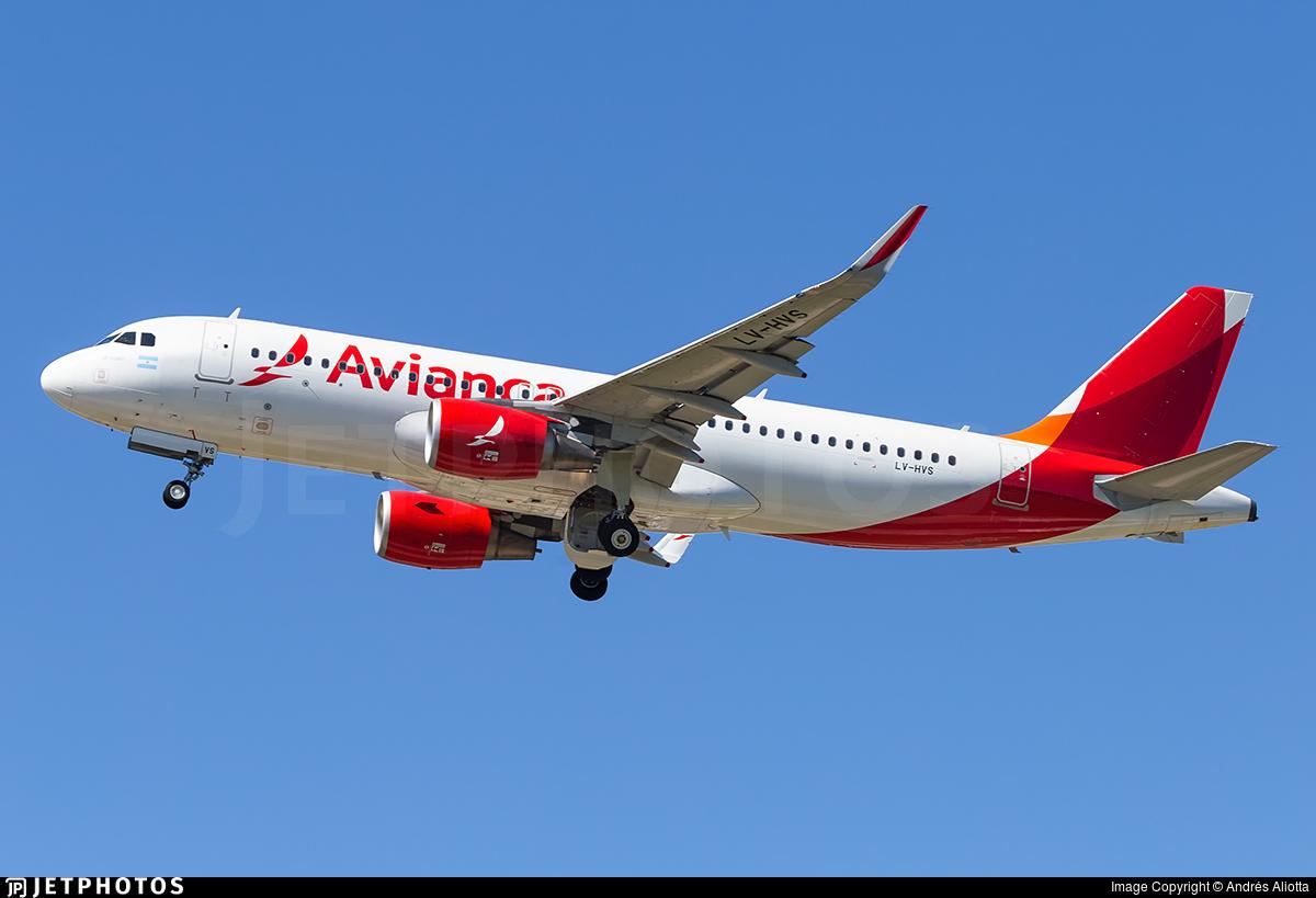 LV-HVS - Airbus A320-214 - Avianca Argentina