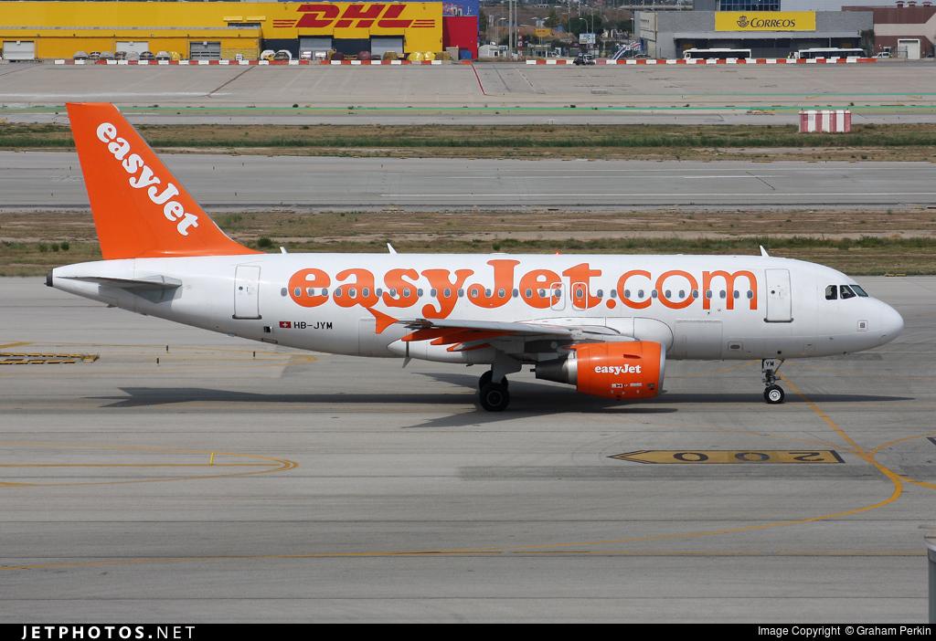 HB-JYM - Airbus A319-111 - easyJet Switzerland