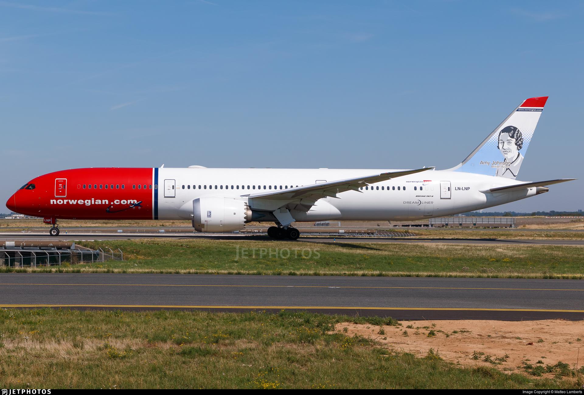 LN-LNP - Boeing 787-9 Dreamliner - Norwegian