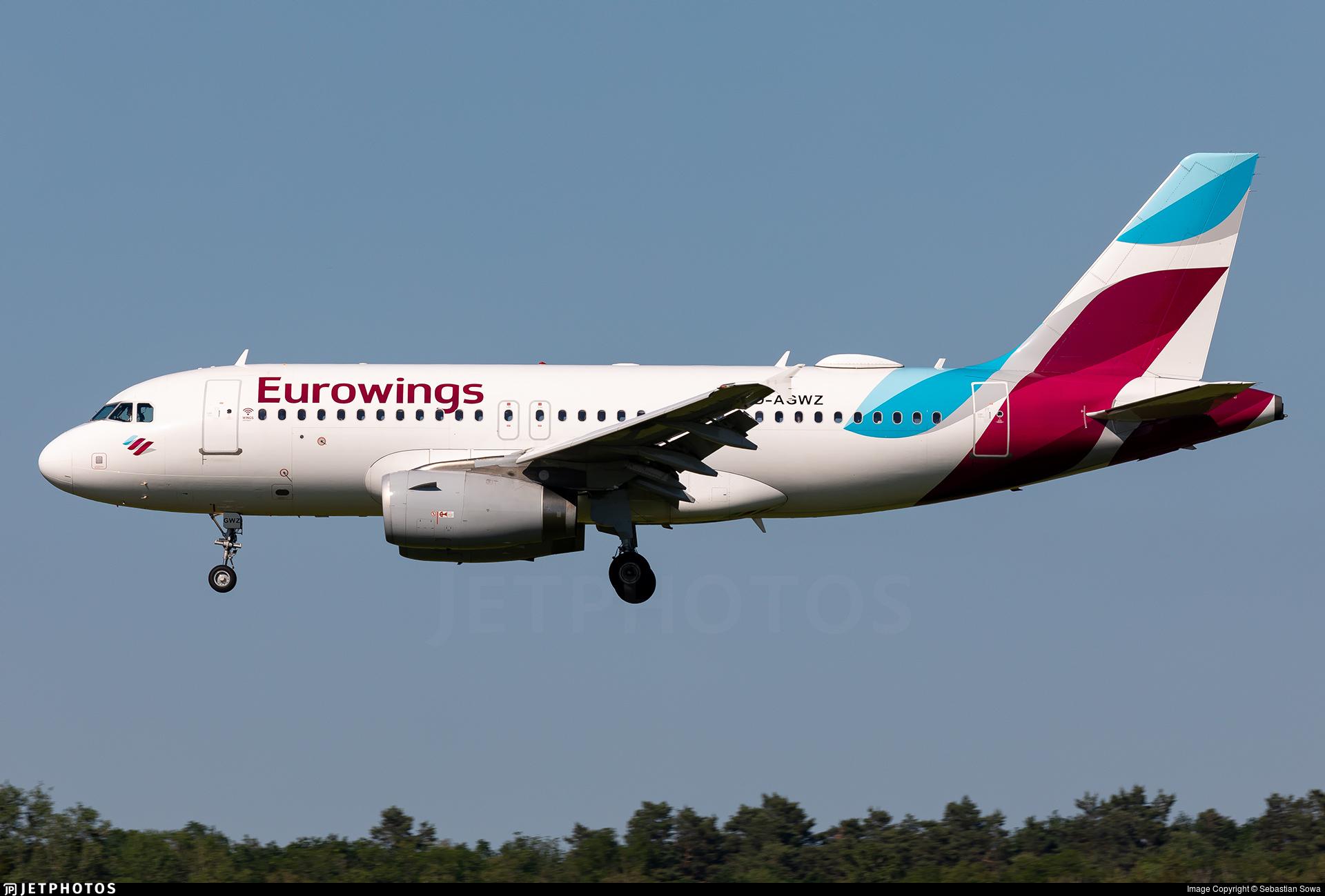D-AGWZ - Airbus A319-132 - Eurowings