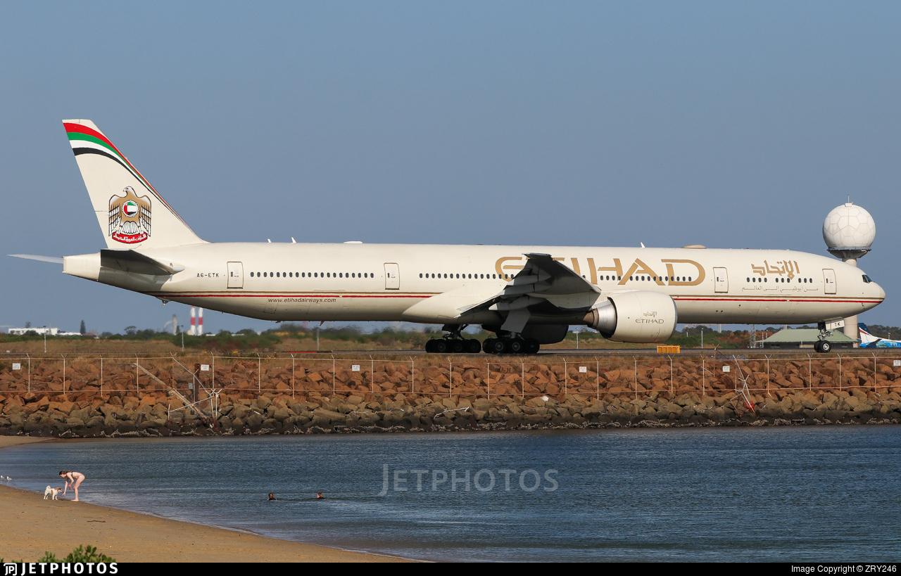 A6-ETK - Boeing 777-3FXER - Etihad Airways