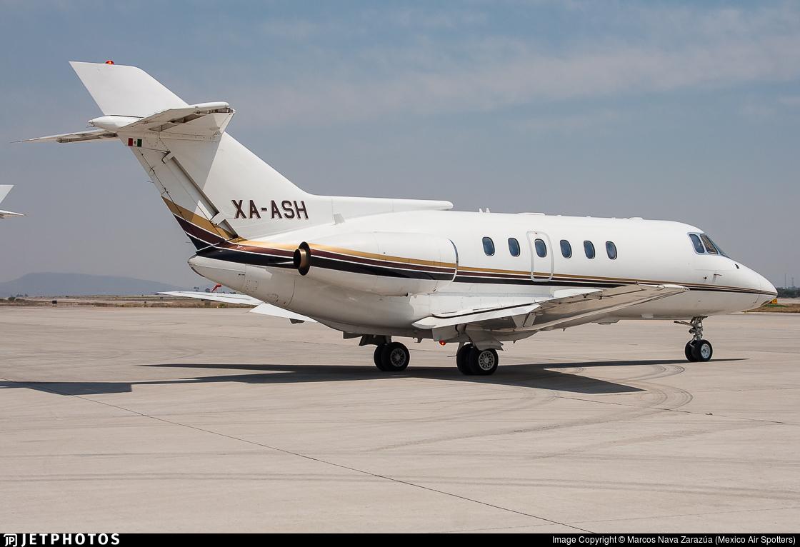 XA-ASH - British Aerospace BAe 125-800B - Private