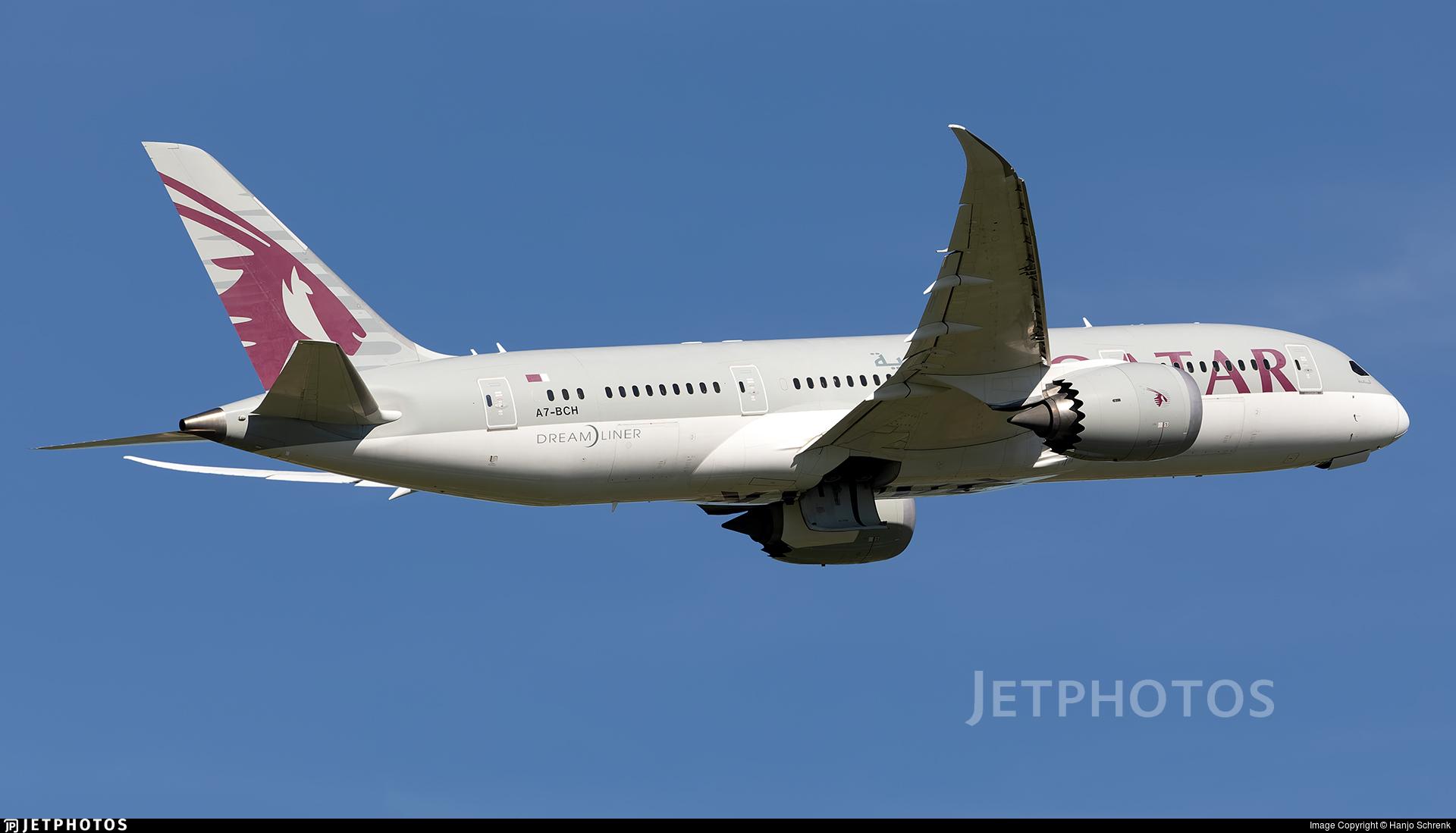 A7-BCH - Boeing 787-8 Dreamliner - Qatar Airways