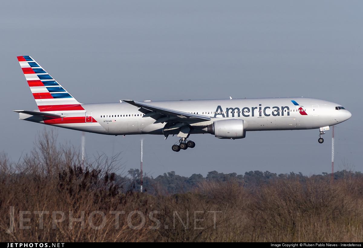 N780an Boeing 777 223 Er American Airlines Ruben