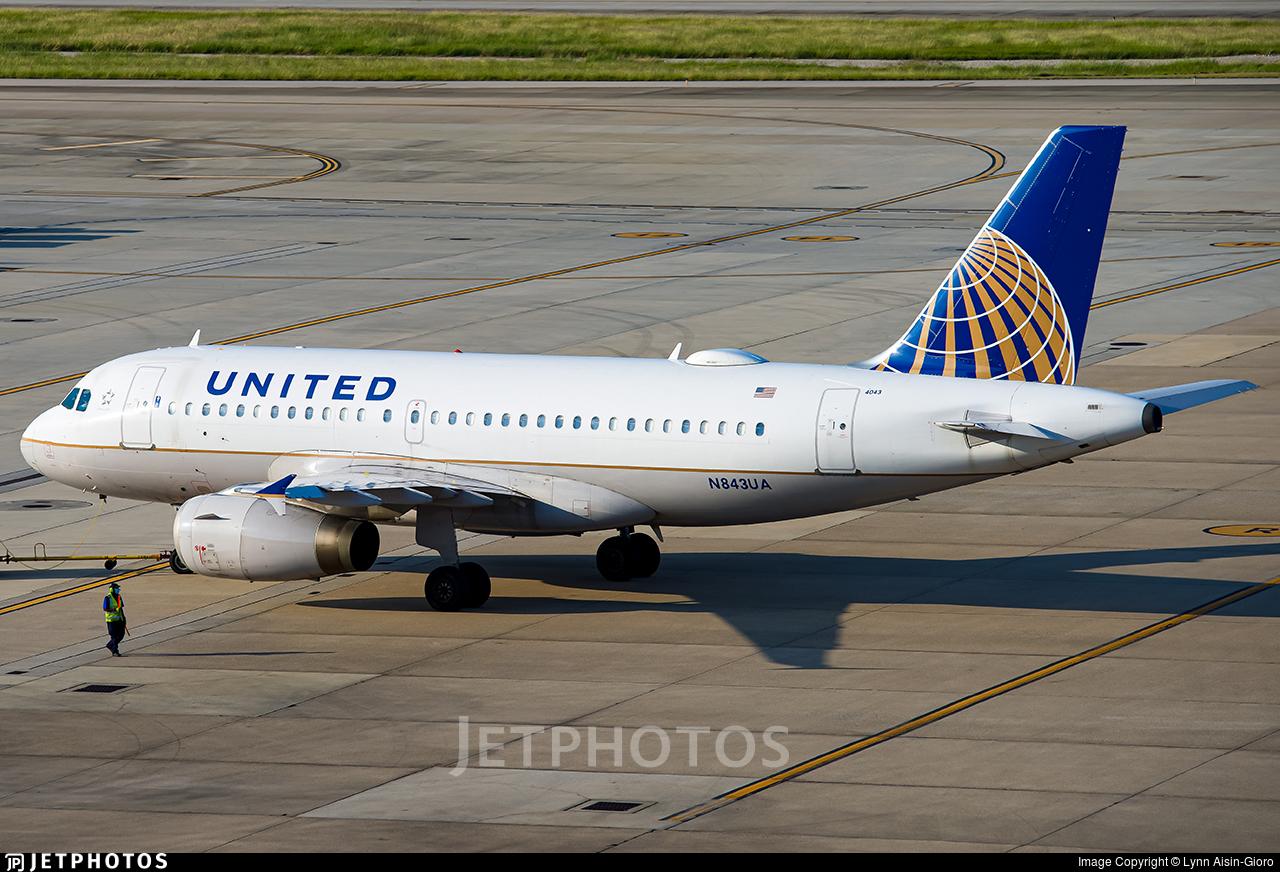 N843UA - Airbus A319-131 - United Airlines