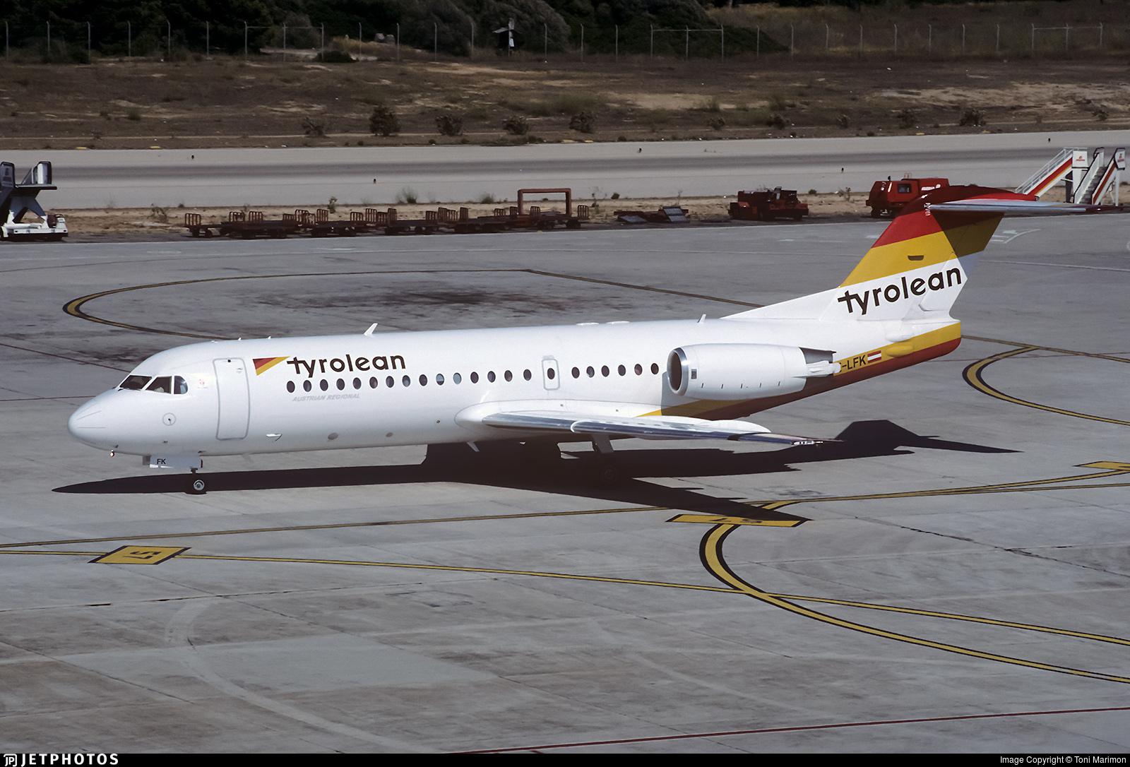 OE-LFK - Fokker 70 - Tyrolean Airways