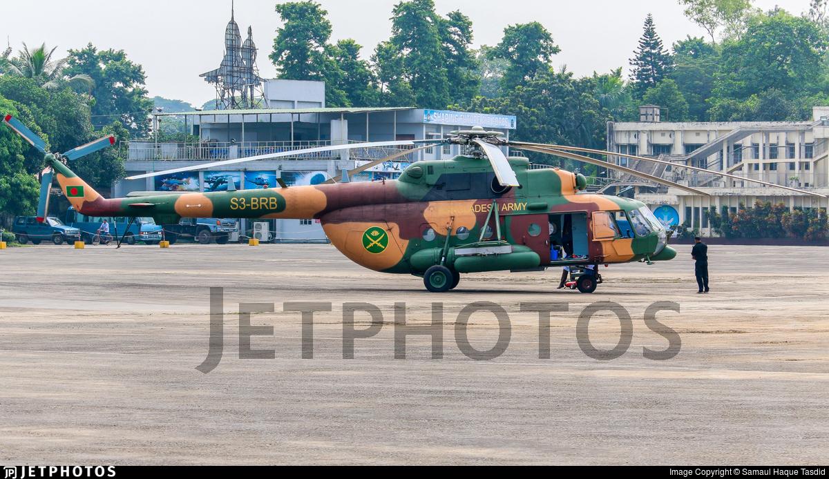 S3-BRB - Mil Mi-171Sh Baikal - Bangladesh - Army Aviation