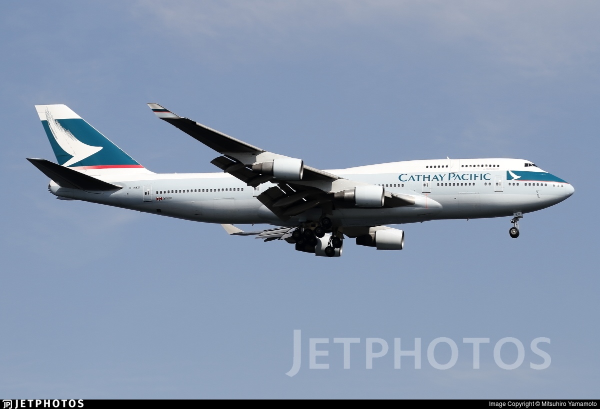 B-HKU - Boeing 747-412 - Cathay Pacific Airways