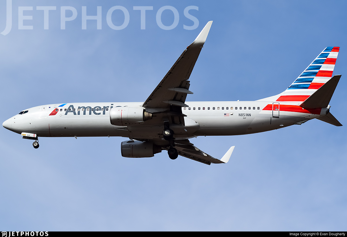 N851nn Boeing 737 823 American Airlines Evan