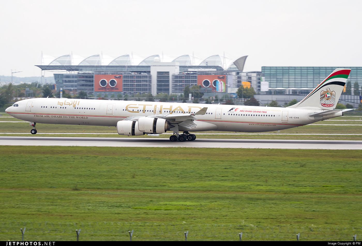 A6-EHK - Airbus A340-642 - Etihad Airways