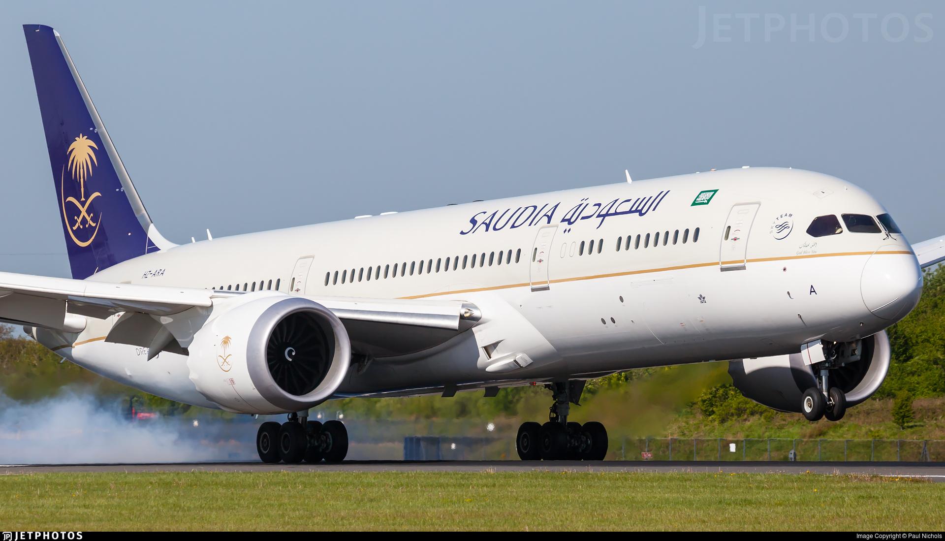 reg. Hz-ARA Boeing 787-9 dreamliner saudia