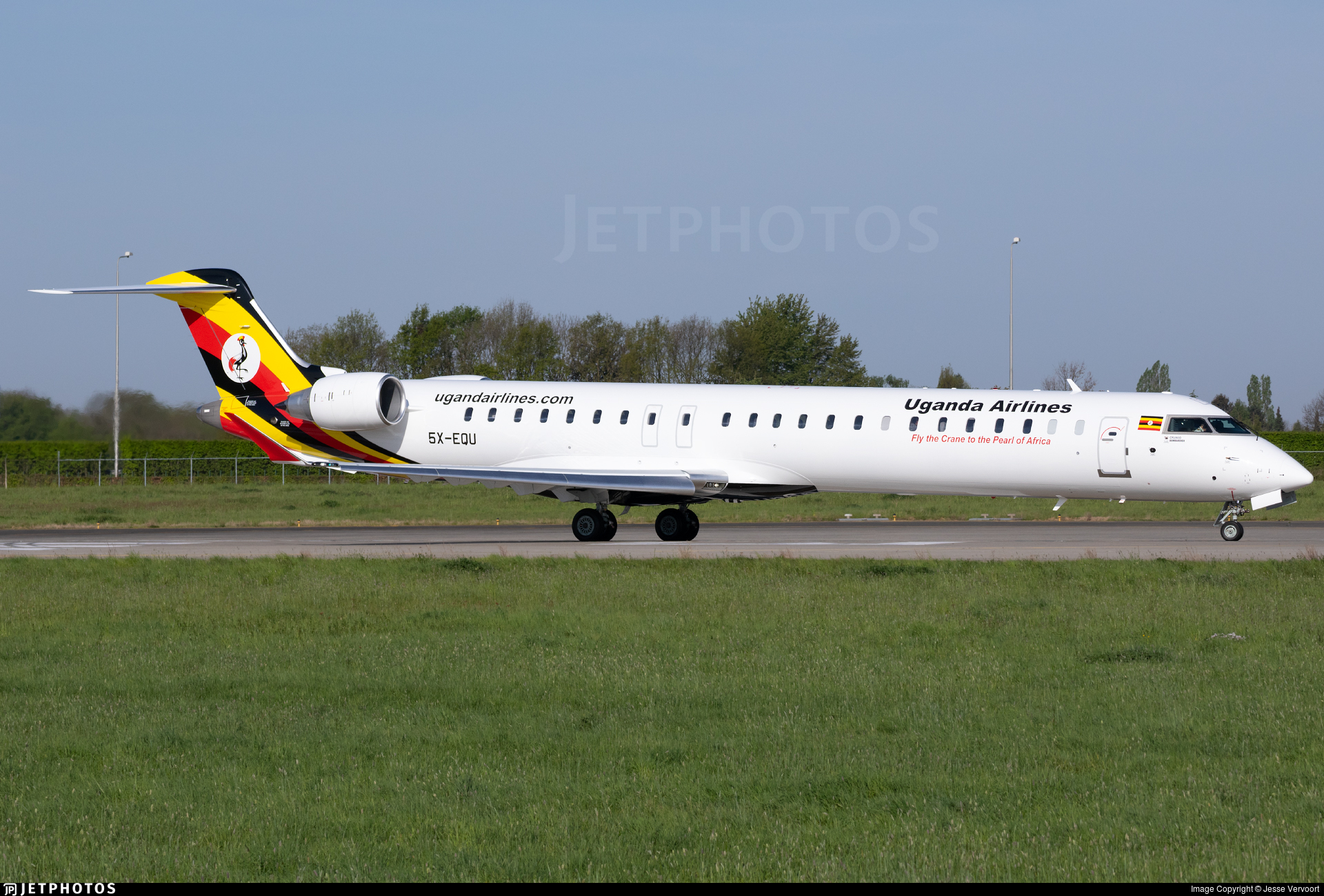 5X-EQU - Bombardier CRJ-900 - Uganda Airlines