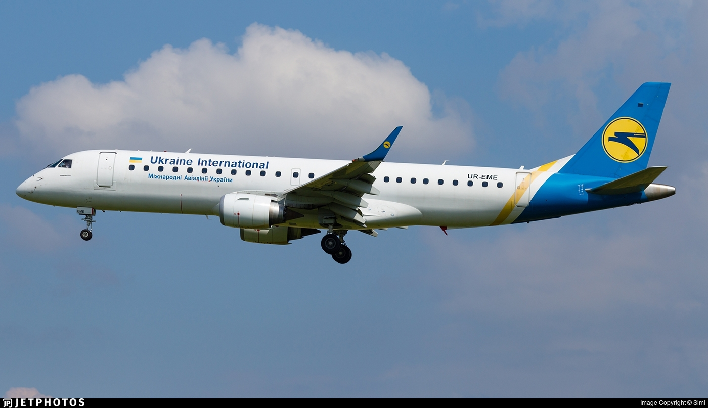 UR-EME - Embraer 190-100LR - Ukraine International Airlines