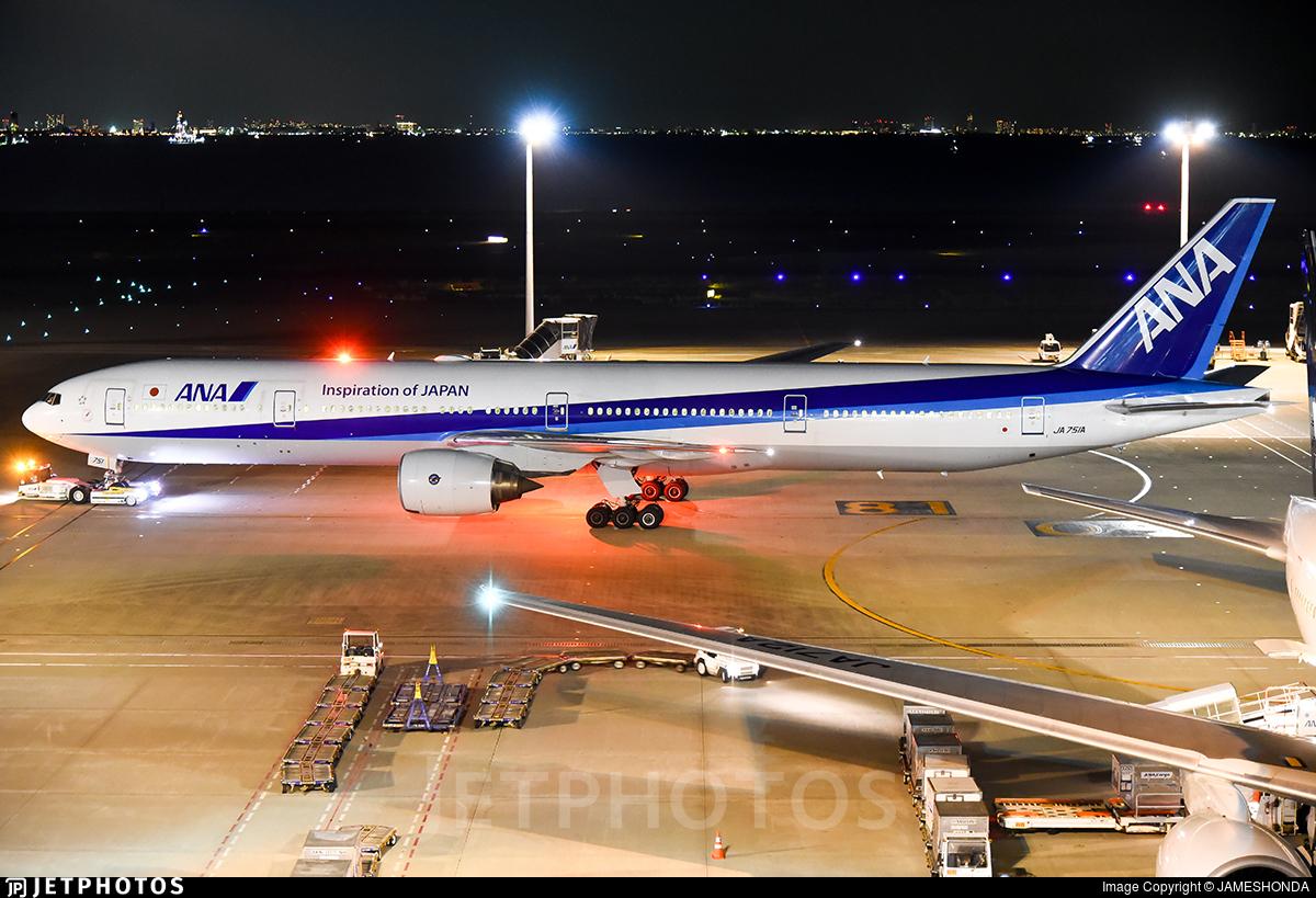 JA751A - Boeing 777-381 - All Nippon Airways (ANA)
