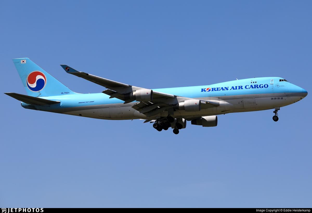 HL7601 - Boeing 747-4B5ERF - Korean Air Cargo