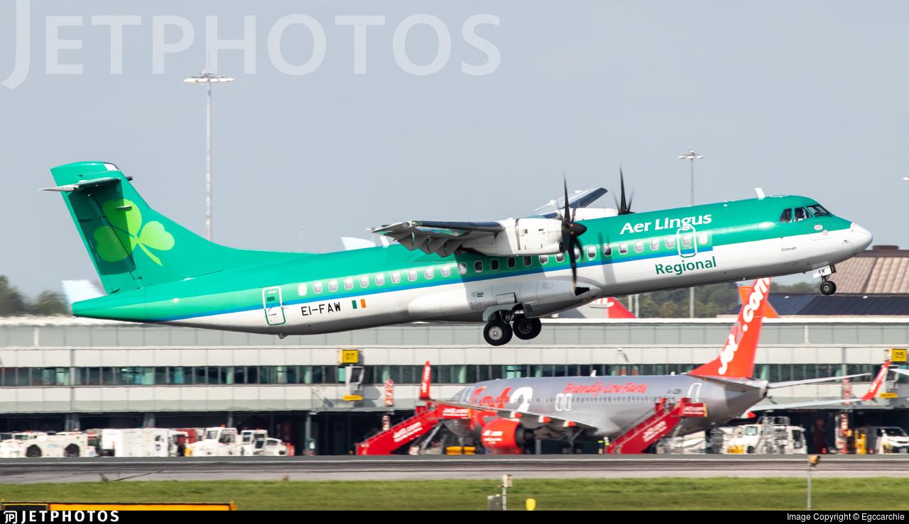 EI-FAW - ATR 72-212A(600) - Aer Lingus Regional (Stobart Air)