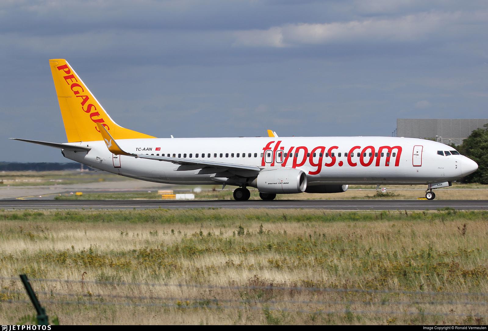 TC-AAN - Boeing 737-82R - Pegasus Airlines