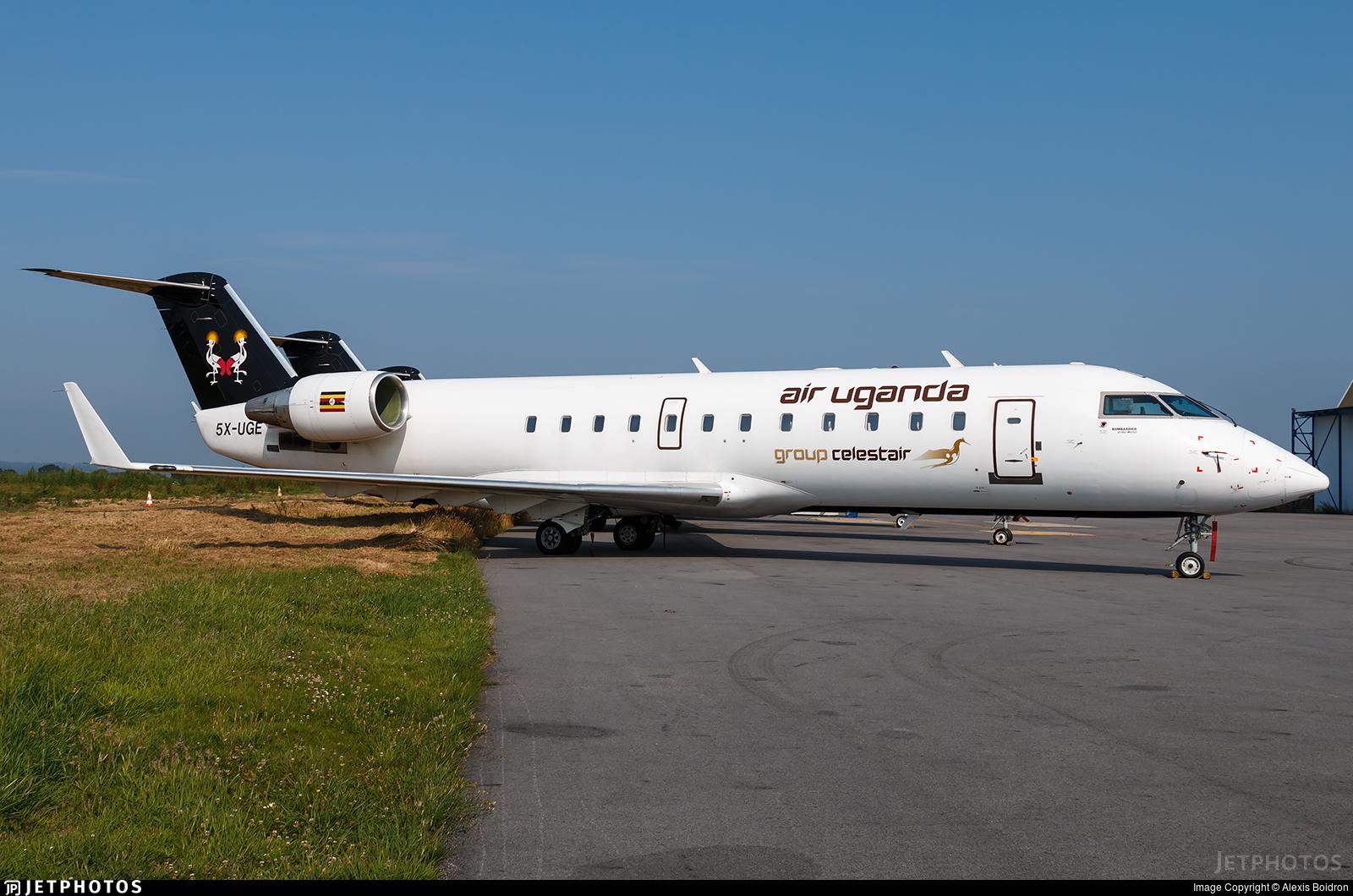 5X-UGE - Bombardier CRJ-200ER - Air Uganda