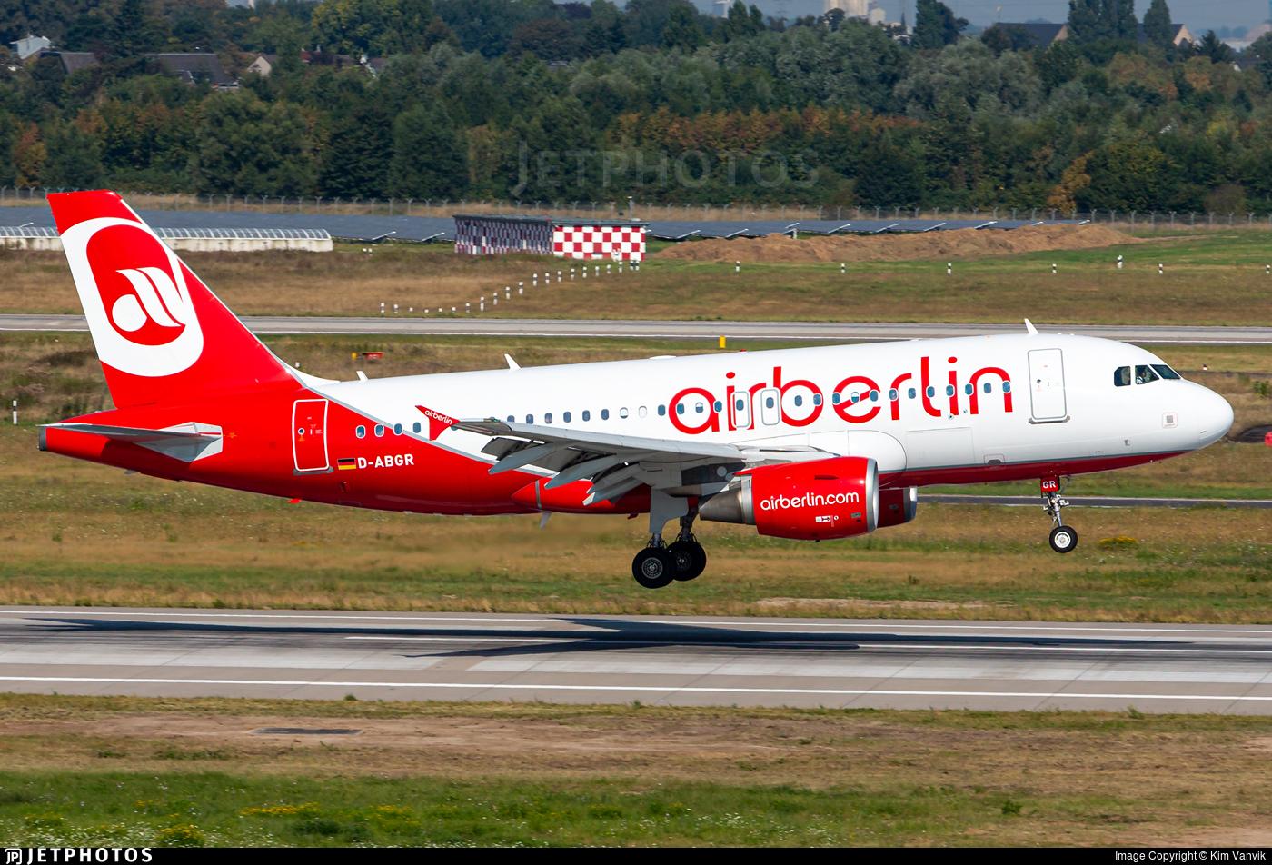 D-ABGR - Airbus A319-112 - Air Berlin