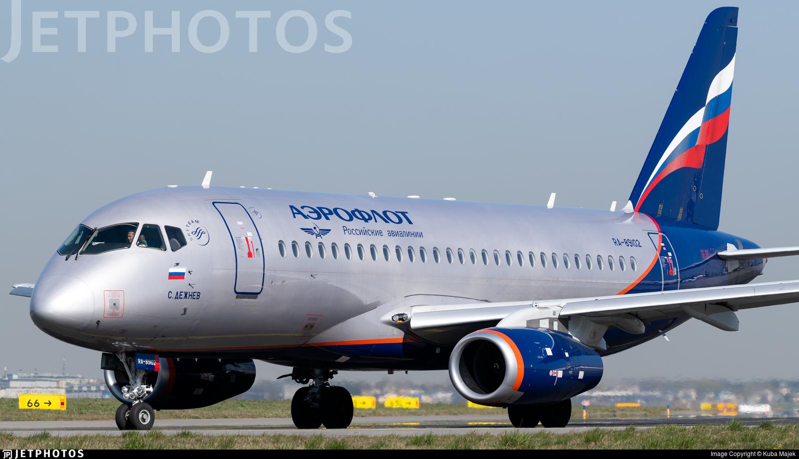 RA-89102 | Sukhoi Superjet 100-95B | Aeroflot | Kuba Majek | JetPhotos