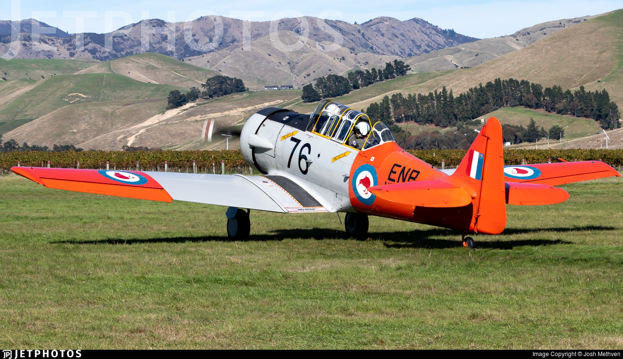 ZK-ENB - North American T-6 Harvard - Private