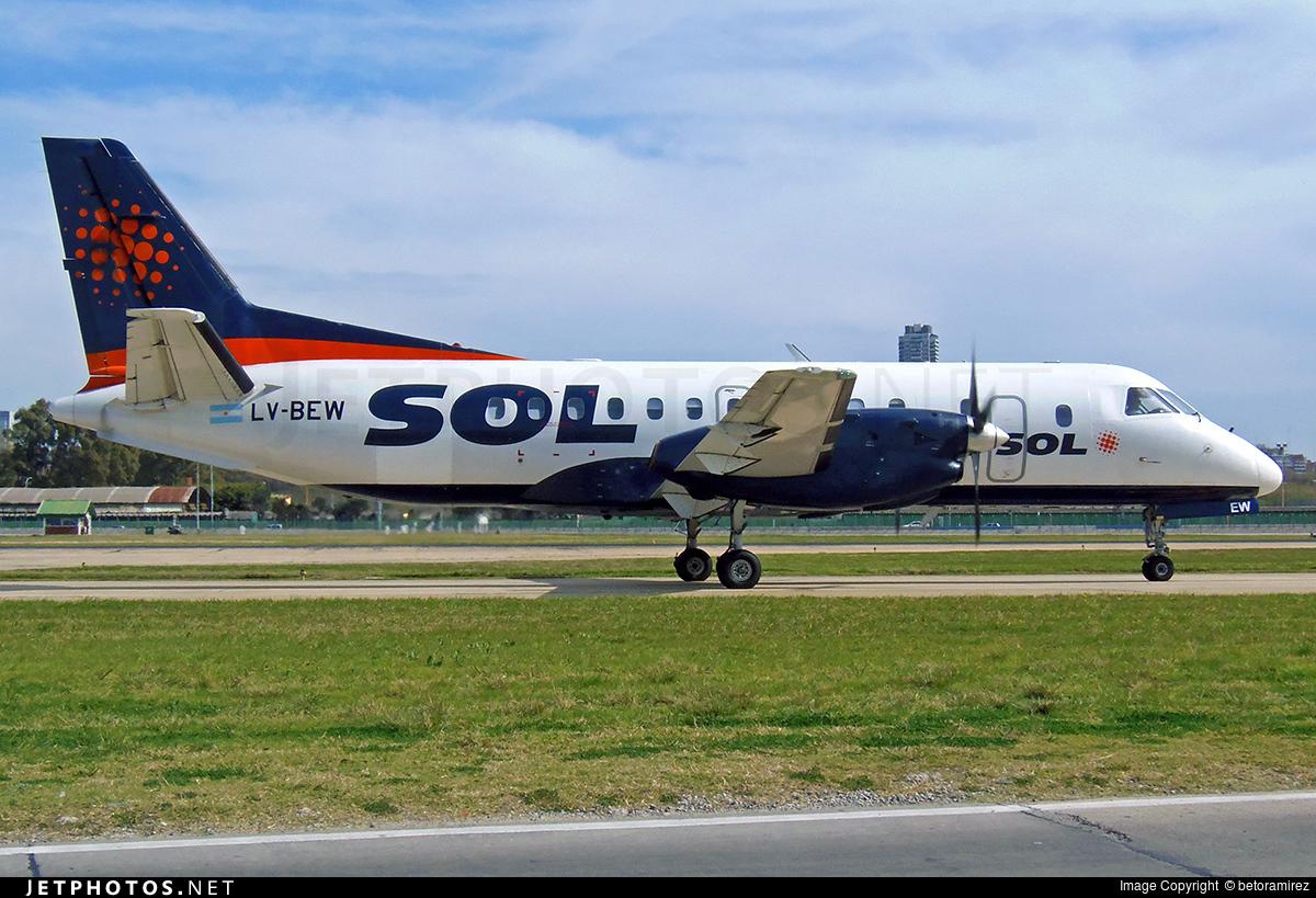 LV-BEW - Saab 340A - Sol Líneas Aéreas