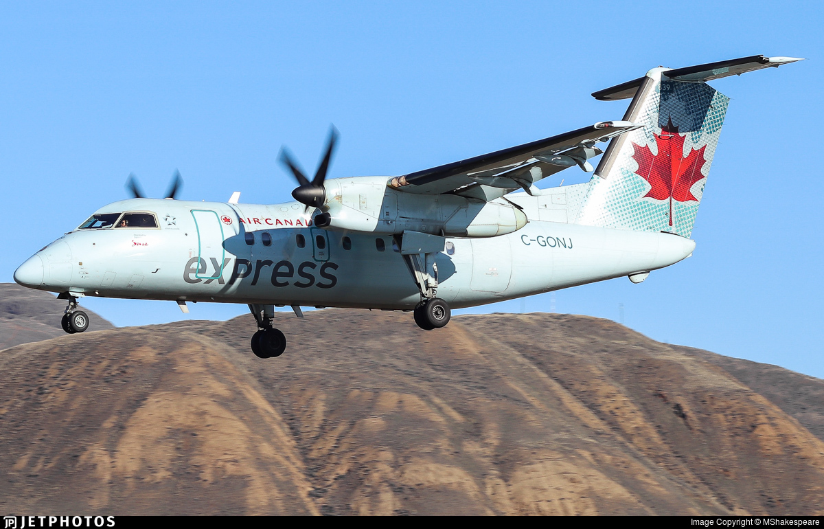 C-GONJ - Bombardier Dash 8-102 - Air Canada Express (Jazz Aviation)