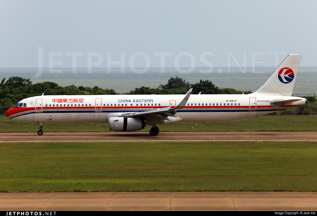 B 9947 airbus a321 231 china eastern airlines jack xie jetphotos - China eastern airlines vietnam office ...
