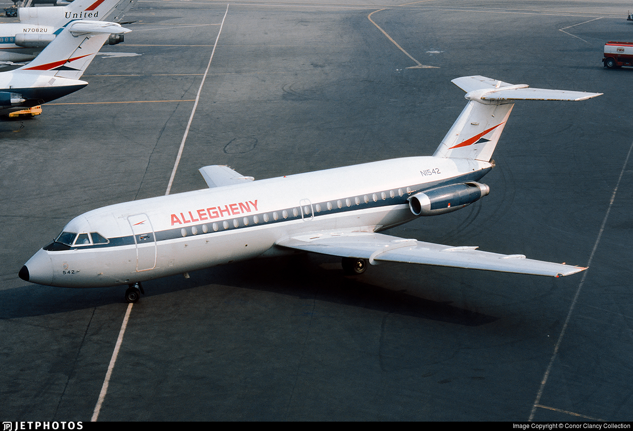 N1542 - British Aircraft Corporation BAC 1-11 Series 203AE - Allegheny Airlines