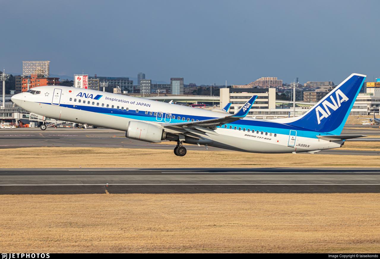 JA88AN - Boeing 737-8AL - All Nippon Airways (ANA)